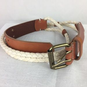 Old Navy Faux Leather Nautical Rope Belt